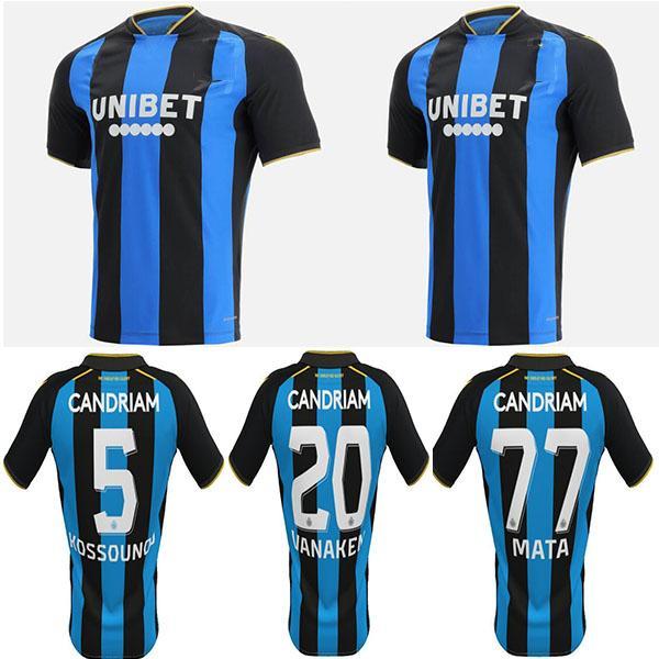 Club Brugge KV Jersey Jersey Kit Kids Kit 21/22 Bélgica Vazer Vanken Football Diatta Schrijers Camiseta de