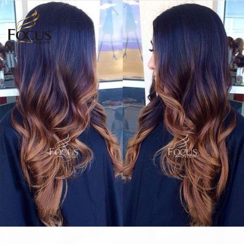 Precucked Full кружево человеческие волосы парики T1B 30 натуральные волны коричневый цвет кружева передний парик с детскими волосами для чернокожих женщин