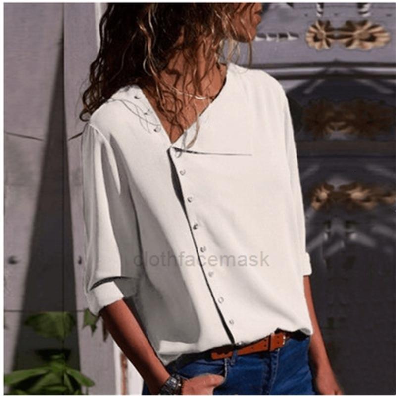Cuello de la manga larga de la moda de la moda de la moda del cuello de la inclinación de la banda de gran tamaño Mujereshjbym