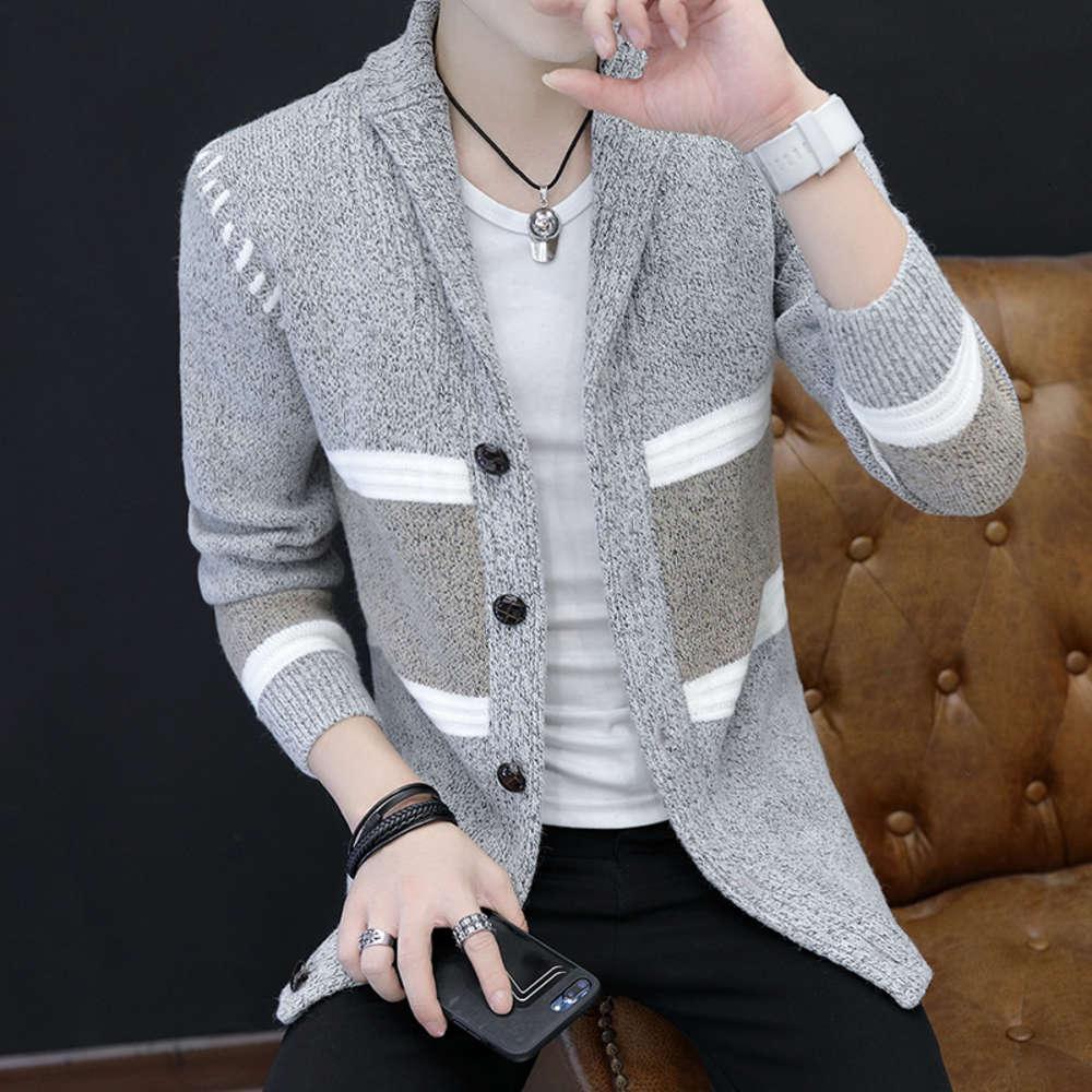 Pullover Männer Frühling Herbst Koreanische Mode Persönlichkeit Jacke Strickjacke V-Ausschnitt Superwert Gute Güter