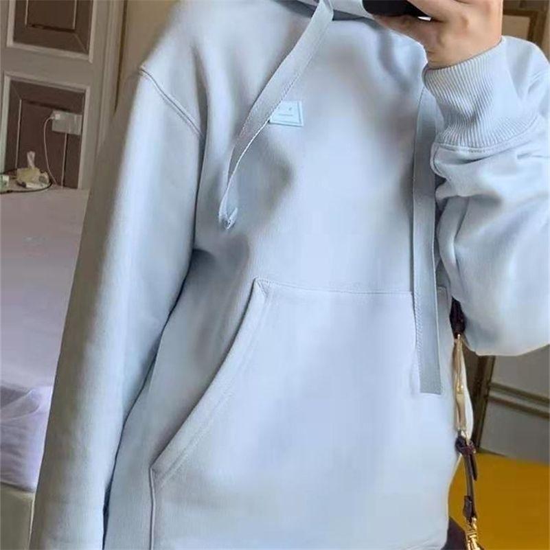 Sudadera con capucha 100% algodón para mujer Casual Sood Foot Footed Pullover Añada Velvet Sudadera de manga larga 201103