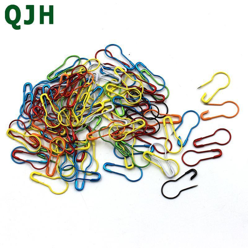 Knitting crochet bloccare blocco indicatore hangtag perni di sicurezza strumenti per cucire fai da te aghi clip artigianali accessorio qjh colorato 100pcs / lot