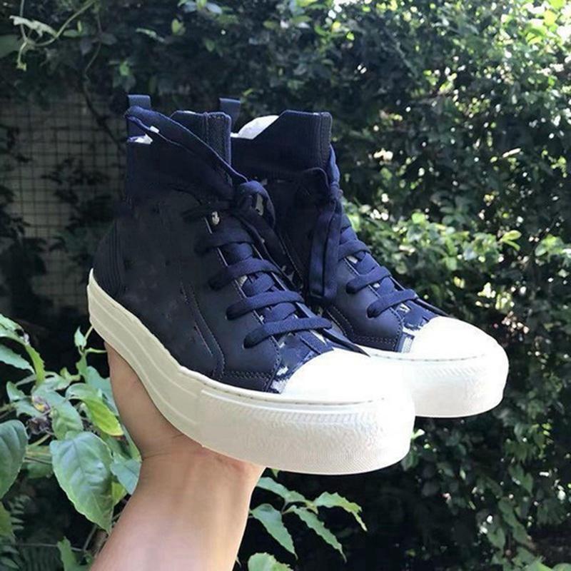 Dior shoes Frete Grátis 2021 Hot Selling Sapatos de Lona de Alta Qualidade Moda Mulheres Senhoras Low Top Top Lona Embossed Microfiber Sneakers Sandálias Casuais