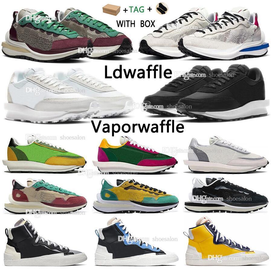 Sacais Vaporwaffle men women running shoes LDV ld Waffle ldwaffle Daybreak Sesame sail sacai white nylon Blue Void Chunky Blazer Fuchsia gusto Sneakers Trainers #cfr