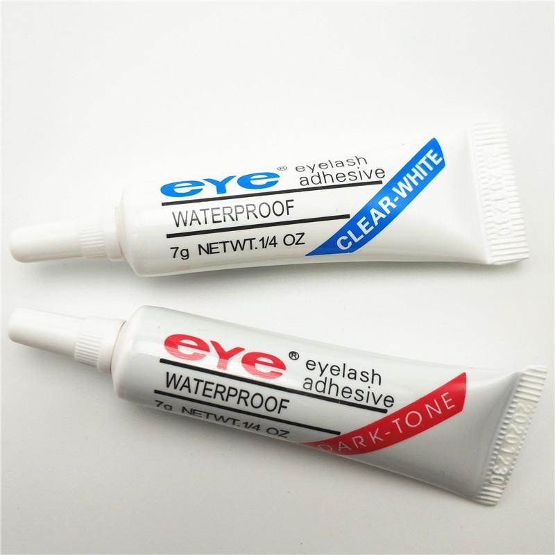 Adhésif de cils 9g 32 oz imperméable à la fausse lunettes d'œil adhésifs colle blanc clair ton sombre avec emballage