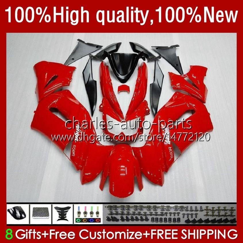 Kawasaki Ninja ER 6 F 2006-2008 ER6 F 650 R 650R 06-08 2008 650-R ER6F 06 07 08オートバイフェアリゾーン光沢レッド