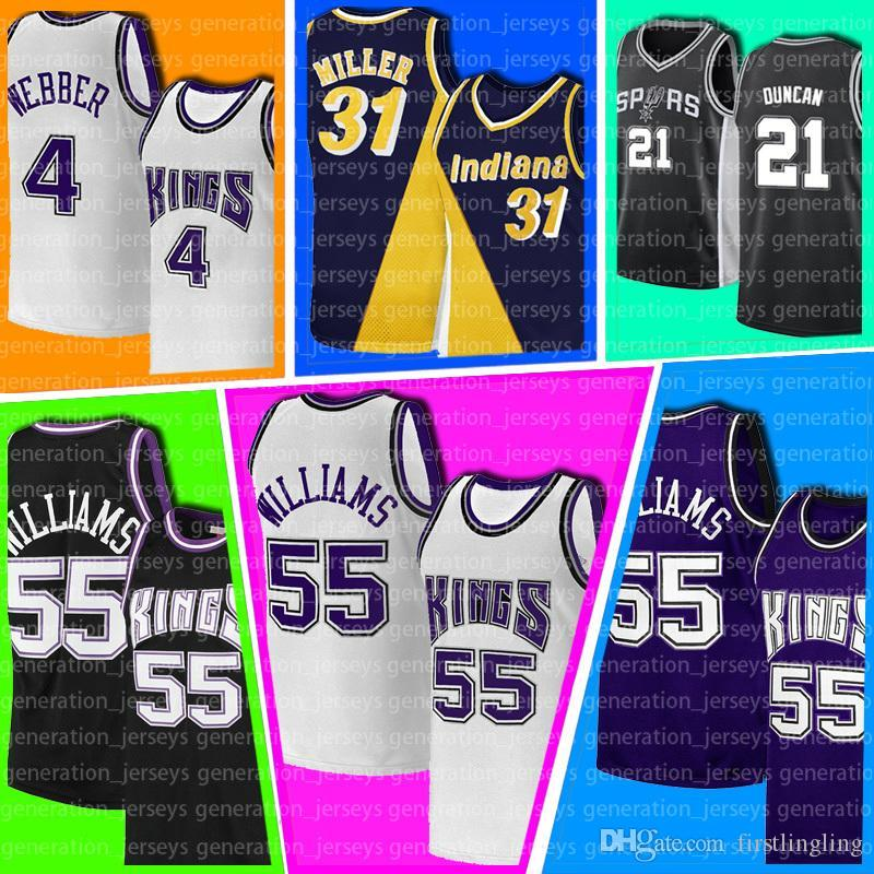 Jason Chris Williams Webber Patrick 33 Ewing SacramentoKings.Nova yorkKnicks.Reggie Tim Miller Duncan Basketball Homens