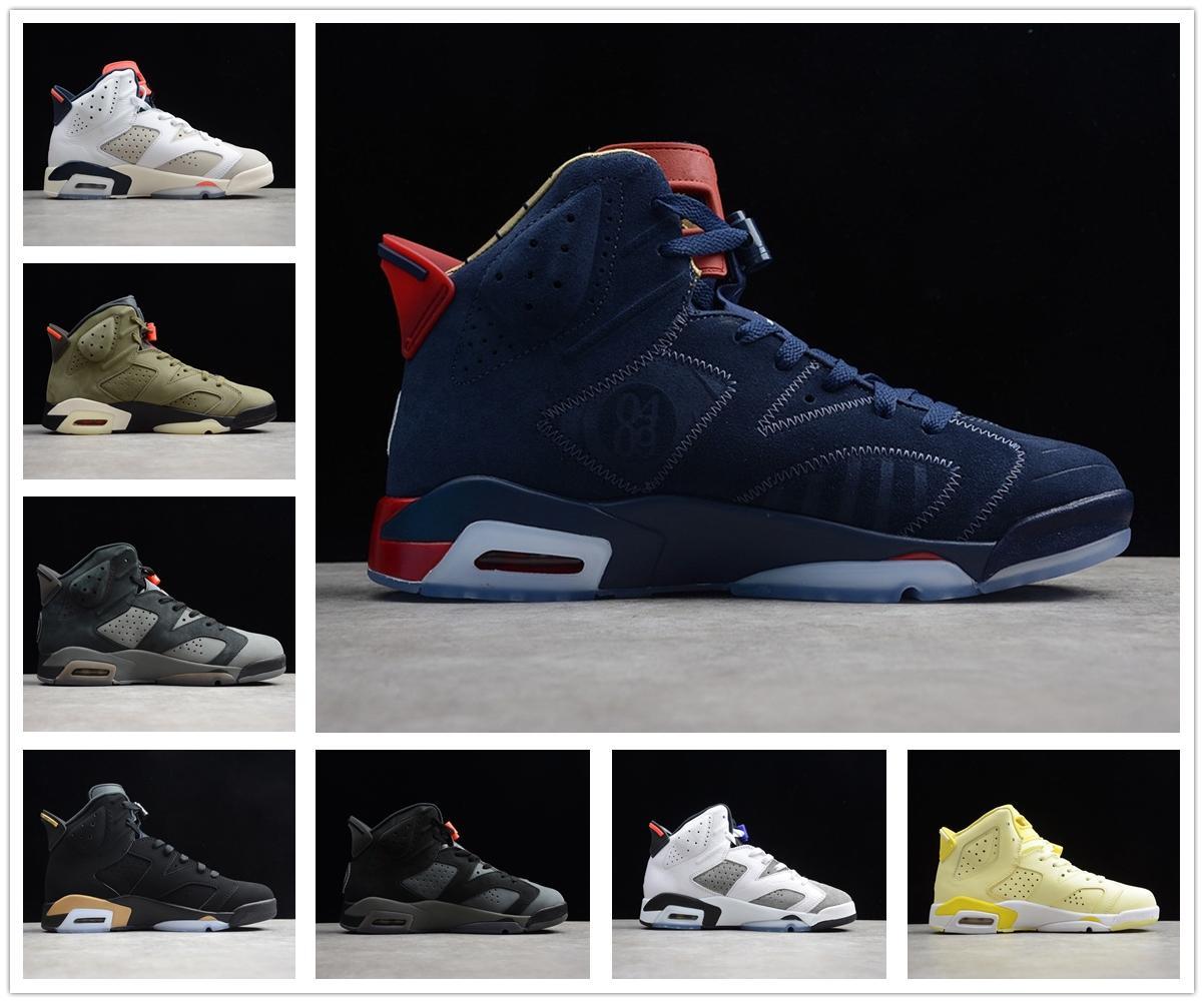 Air Jordan 6 6s retro 6 Jumpman Stock x Travis Scott 6 6s Hommes Chaussures de basket-ball 3M réfléchissant infrarouge Ducks entraîneurs des hommes de chaussures de sport