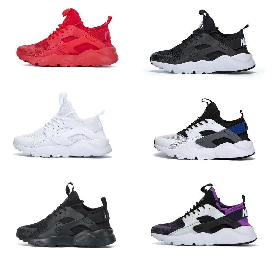 Huarache الاحذية 4.0 1.0 الرجال النساء أحذية الثلاثي أبيض أسود أحمر رمادي huaraches رجل المدربين الرياضة في الهواء الطلق رياضة المشي الركض