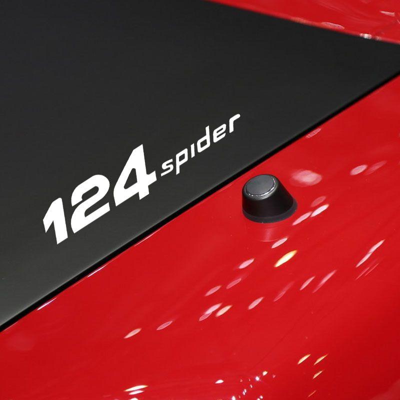 자동차 창 비닐 데칼 스티커 Fiat 124 스파이더 장식 데칼 자동차 후면 거울 스티커 스타일링