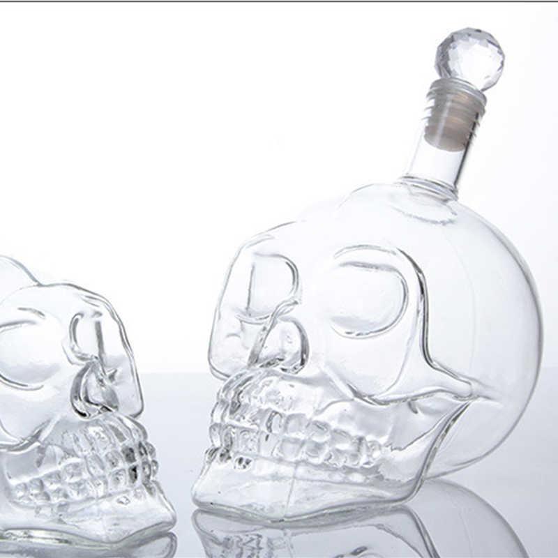 350mll Kreative Kristall Schädel Kopf Flasche Whisky Schnaps Glas Bier Spirituosen Becher Wasserbrille Whisky Wodka Wine Dekanter Flaschen X0703