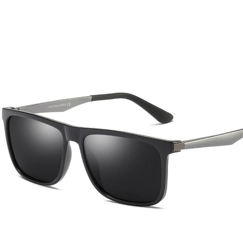 GGOVO erkek TR90 Malzeme Kare Polarize Güneş Gözlüğü Marka Tasarımcısı Moda Unisex Güneş Gözlükleri UV400