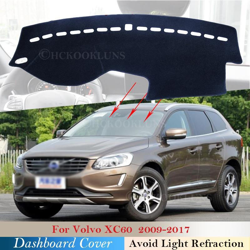 غطاء لوحة القيادة وسادة واقية من أجل Volvo XC60 2009 ~ 2017 اكسسوارات السيارات Sunshad Carpet 2010 2011 2012 2013 2014 2015 2016 البساط