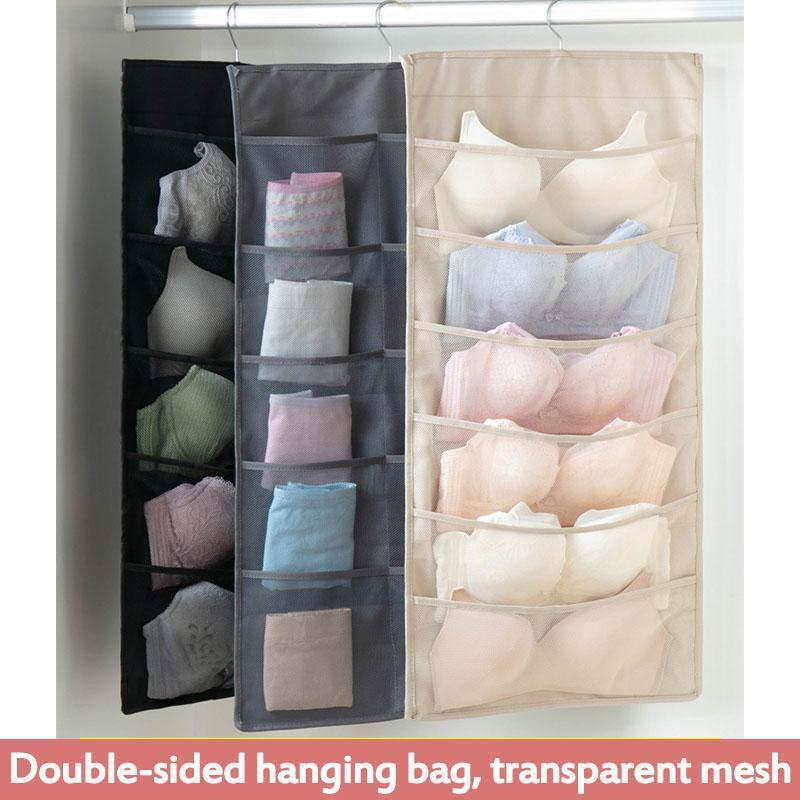 طوي خزانة حقيبة تخزين شنقا منظم underwars البرازيلي الجوارب متعددة جيوب حقيبة أكسفورد النسيج شنق التخزين المنظم