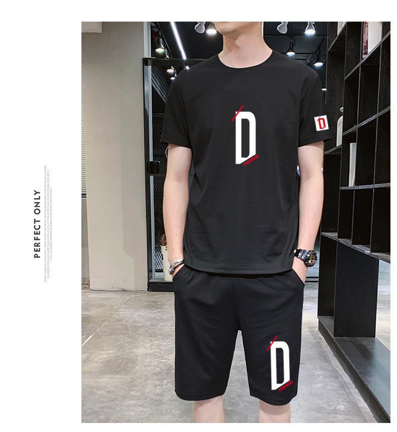 2021 T-shirt à manches courtes à col rond pour hommes