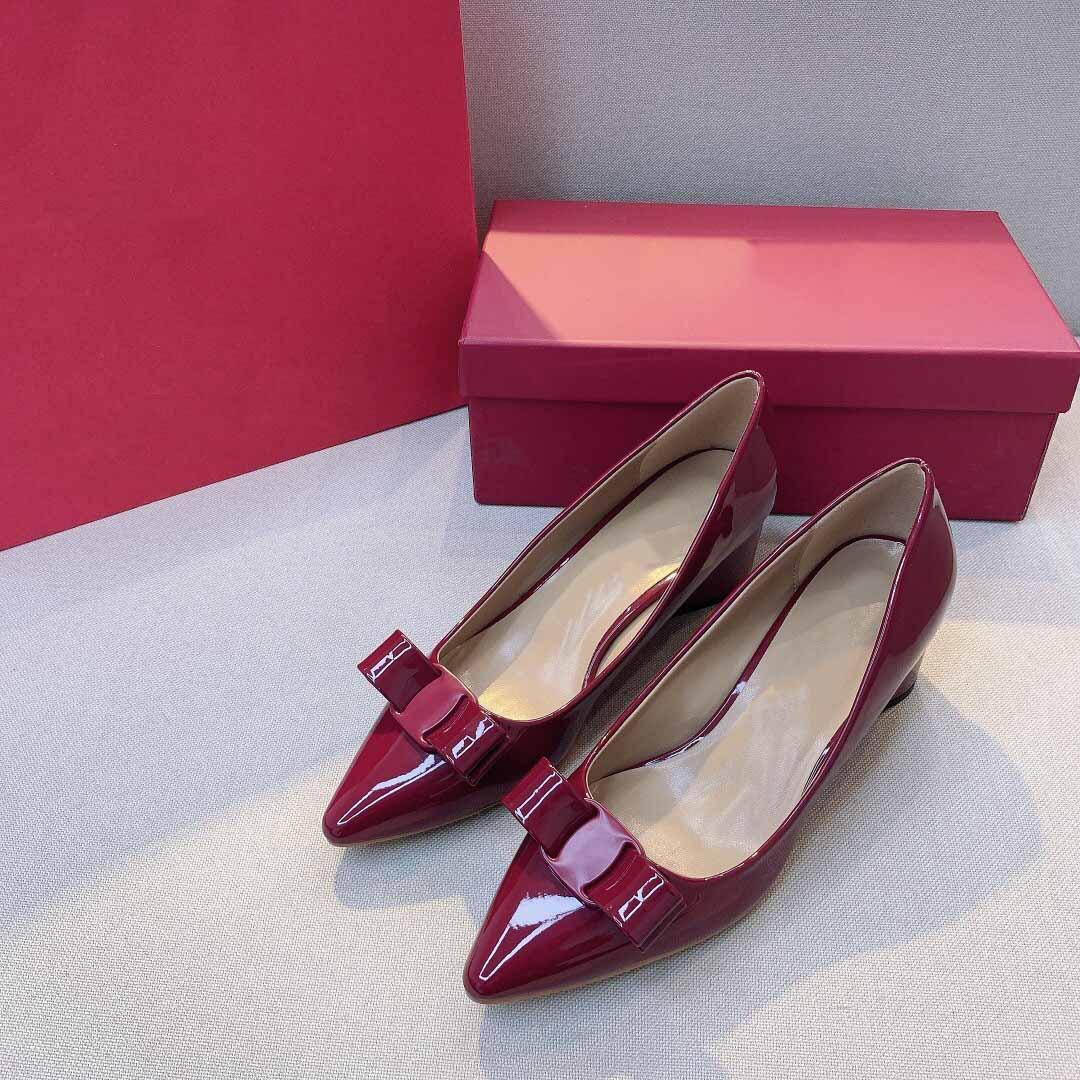 2021 Итальянская женская обувь императорская страна толстые корневые высокие каблуки 35-41Code