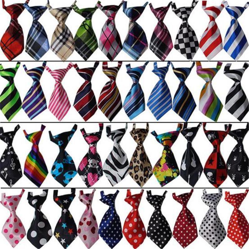 Animaux domestiques 56 Couleur de chien Cravate réglable Cat et le nœud papillon de chiot robe de chiot Accessoires pour animaux de compagnie Panneau personnalisable Cadre de chien I7CZ