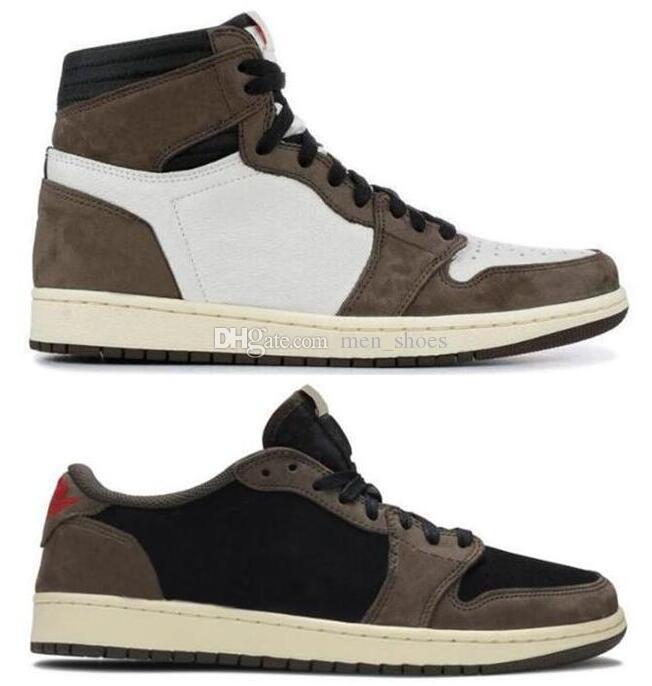 Zapatillas de baloncesto de primera calidad High OG Travis Scotts Cactus Jack Suede Dark Mocha TS SP 3M Zapatillas de baloncesto para hombre mujer1s Zapatillas con caja