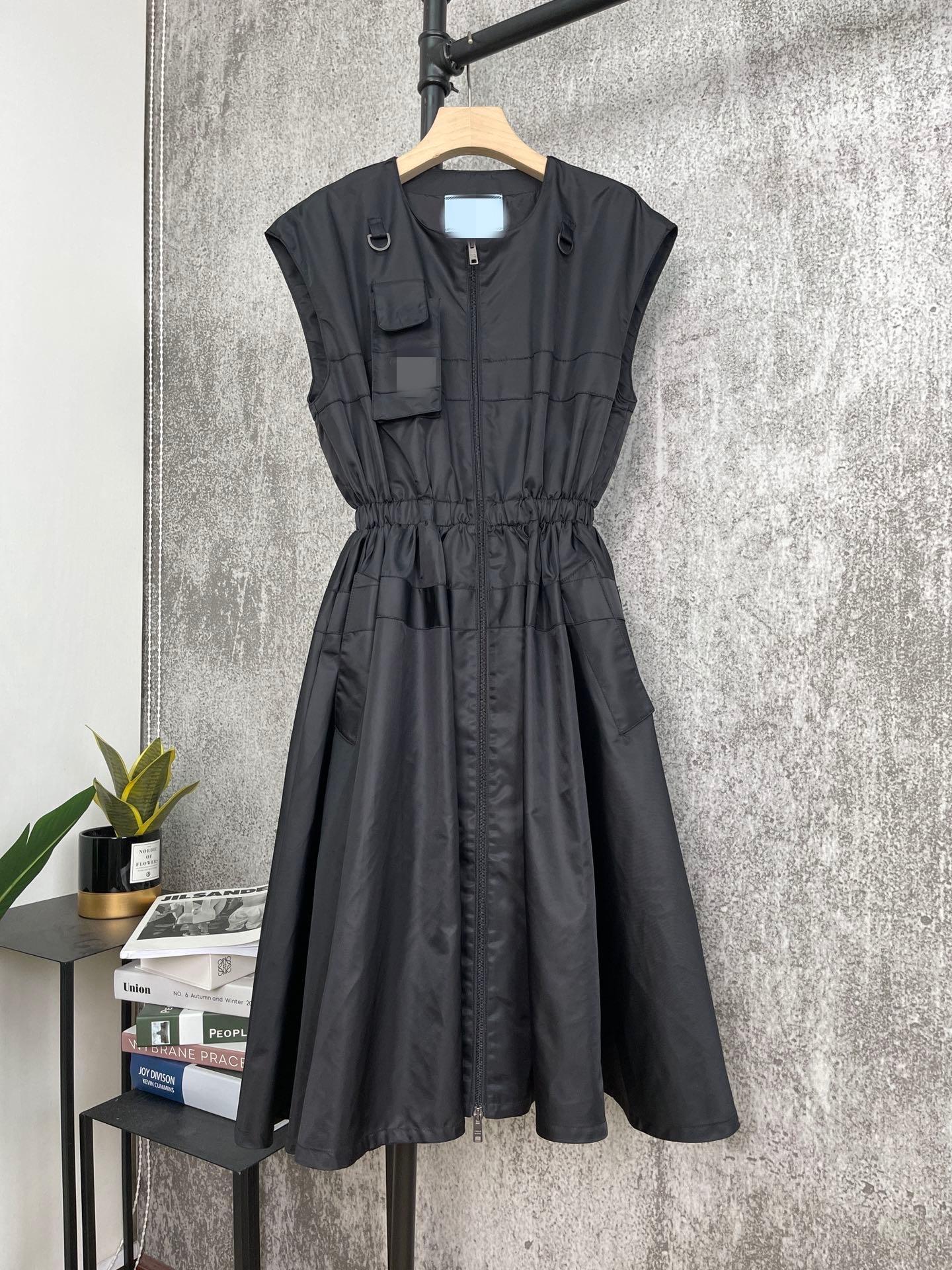 Abiti da sole di Milano 2021 Abito da donna con pannelli estivi Designer Dress Same Style Style Dress Skirt con spallacci 0313-2