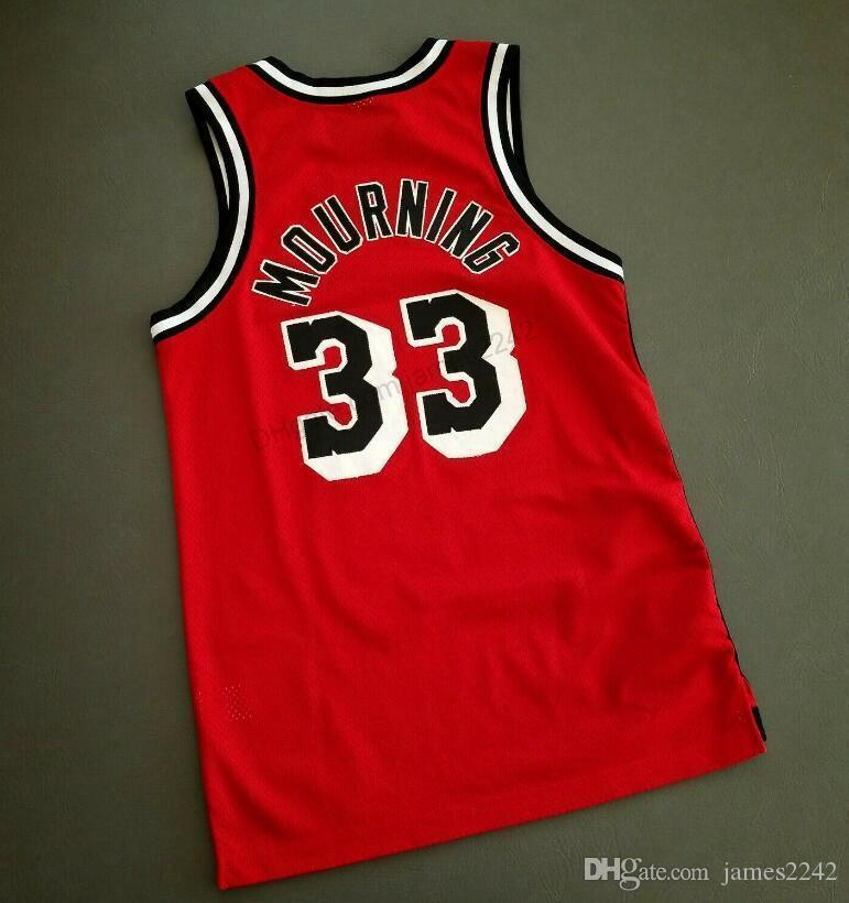 Billig benutzerdefinierte Retro # 33 Trauer Basketball Jersey Herren genäht rot Jede Größe 2xs-3XL 4XL 5XL Name oder Nummer Kostenloser Versand Top Qualität