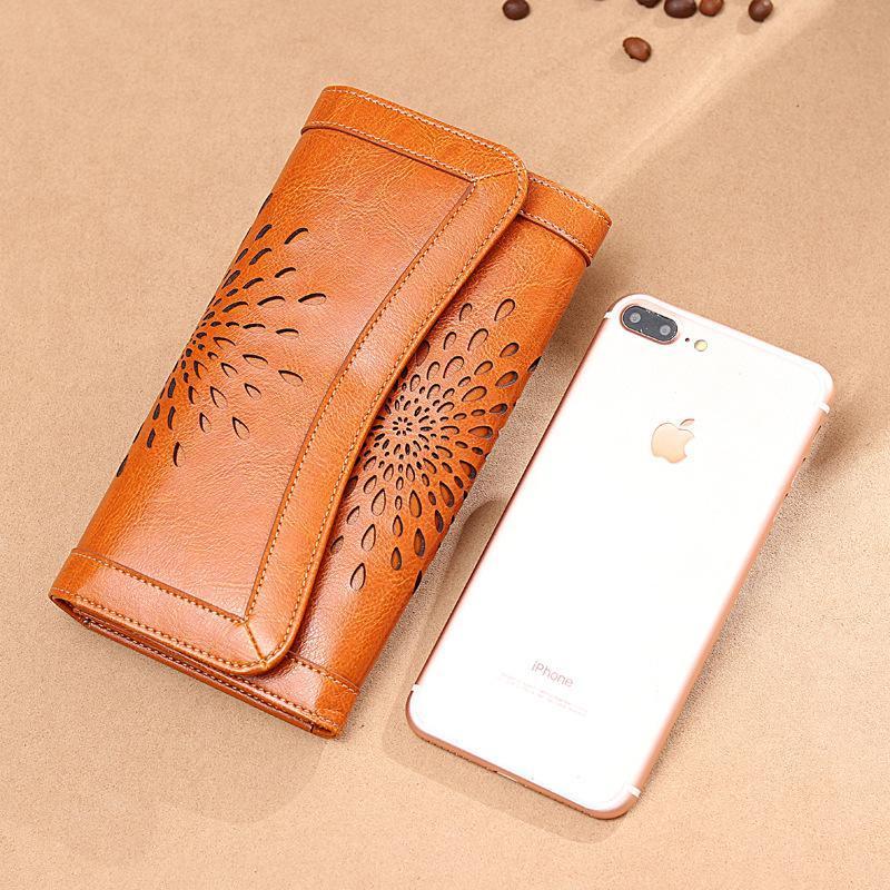 Wallets Women Men Unisex Luxury Designer Quality Folding Long Wallet Card Holder Carved Shoulder Handbags Coin Purse Clutch Bag Leather
