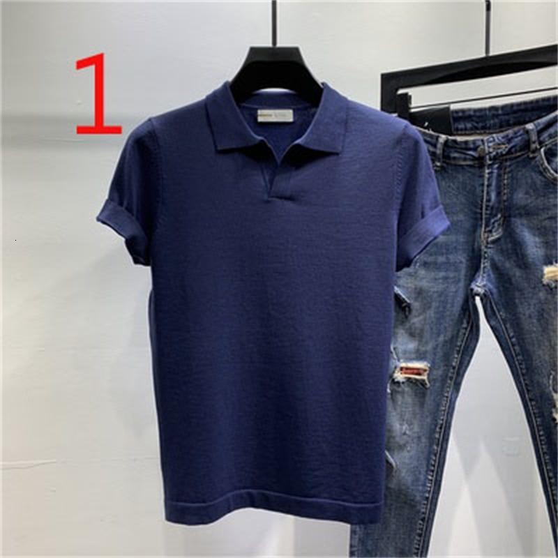 2021 Новый мужской лето круглые шеи хлопок с короткими рукавами сплошной цвет молодости простая футболка красивый S5HC