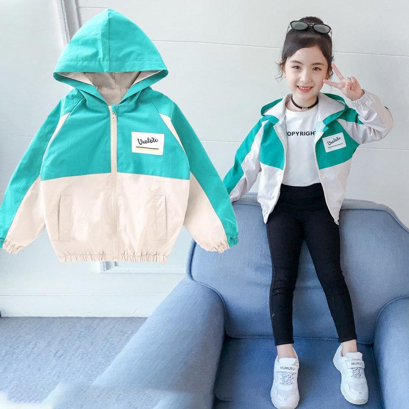 2021 куртки девушки новая куртка для девочки весна девочка детям с длинным рукавом с душой верхняя одежда детская одежда TGPT