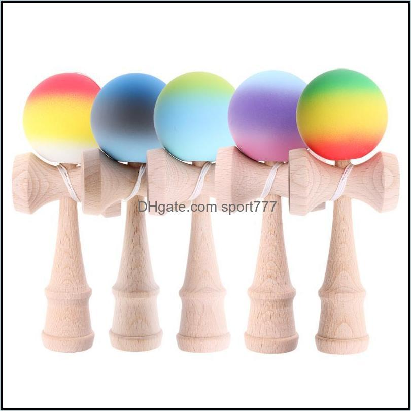 Festive Party Supplies Home & Gardenparty Masks Kendama Ball Game Bilboquet W/ String Wooden Cup Child Educational Balance Toy Drop Delivery