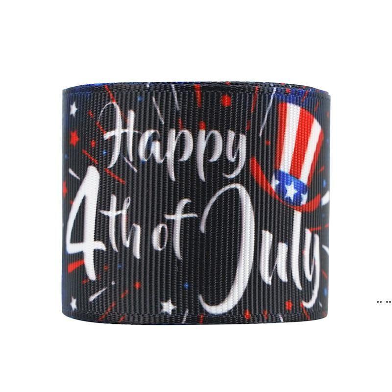 USA Unabhängigkeitstag DIY Haar Zubehör 4. Juli Geschenkpaket Ribbon 22mm / 10 Yards A Roll-Geschenke Spitzenband Dhe5236
