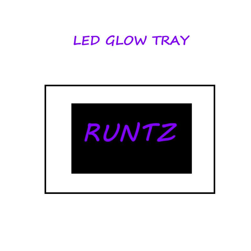 LED GLOW Haddeleme Tepsi 550 mAh Dahili Pil LED Işık Glow Tepsi Hızlı Şarj Runtz Kuru Herb Tütün Depolama Kurabiye için