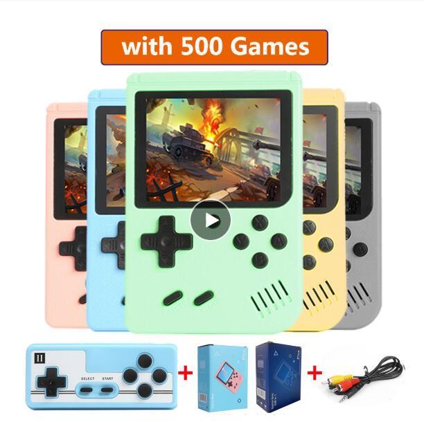 500 in 1 Gameboy 레트로 비디오 게임 콘솔 핸드 헬드 게임 휴대용 포켓 게임 콘솔 3.0 인치 미니 핸드 헬드 플레이어 아이들을위한 선물