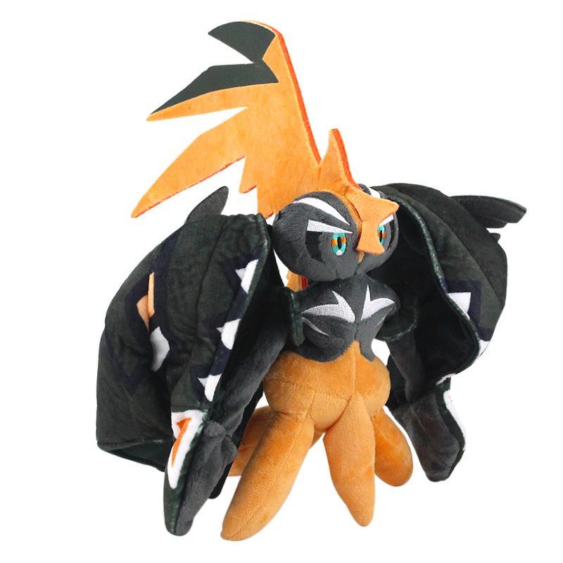 27cm neue tapu koko plüsch spielzeug cartoon anime weich gefüllte tiere puppe schwarze vogel geschenke für kinder