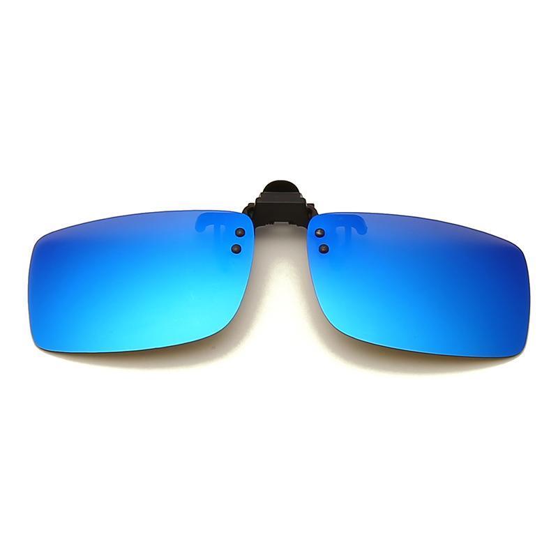 Sonnenbrille Clip auf Flip-Up Polarisierte Linse für Korrekturbrille Männer Frauen Square Fahren Nachtsicht UV-Schutz