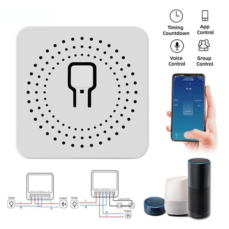 WiFi Smart Light Switch Module AC110-220V 16A DIY Timing Voice Control Circuit Breaker Switch Module Smart Life