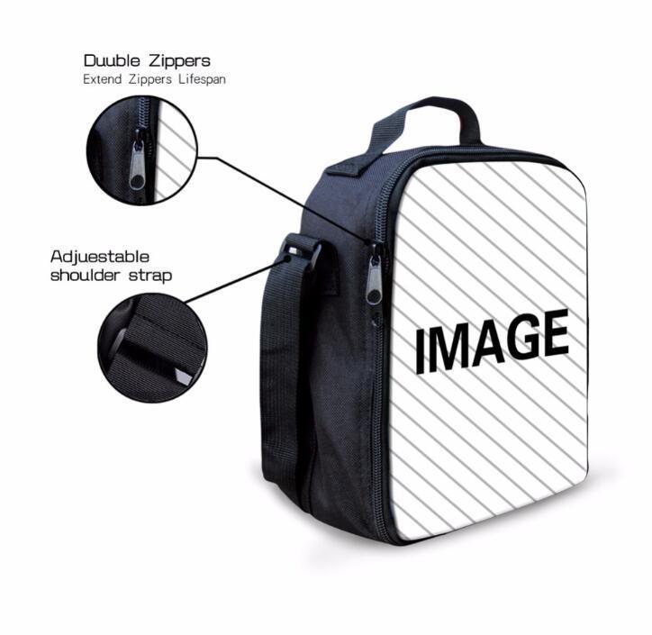 Çanta Süblimasyon DIY Boş Beyaz Öğrenci Polyester Taşınabilir Kalın İfade Öğle Yemeği Buz Paketi NWCJK