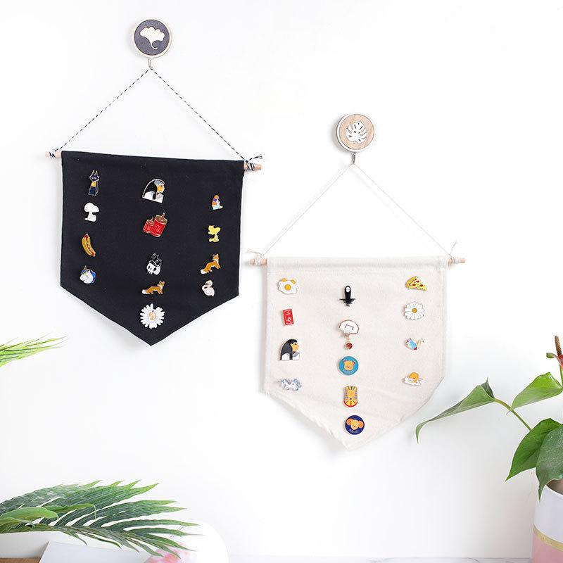 Pin Display Pennant Banner Emaille Revers Pin Abzeichen Flagge Ebene Leere Leinwand Wand Banner Abzeichen Lagerung Home Hanging Decorations 208 S2