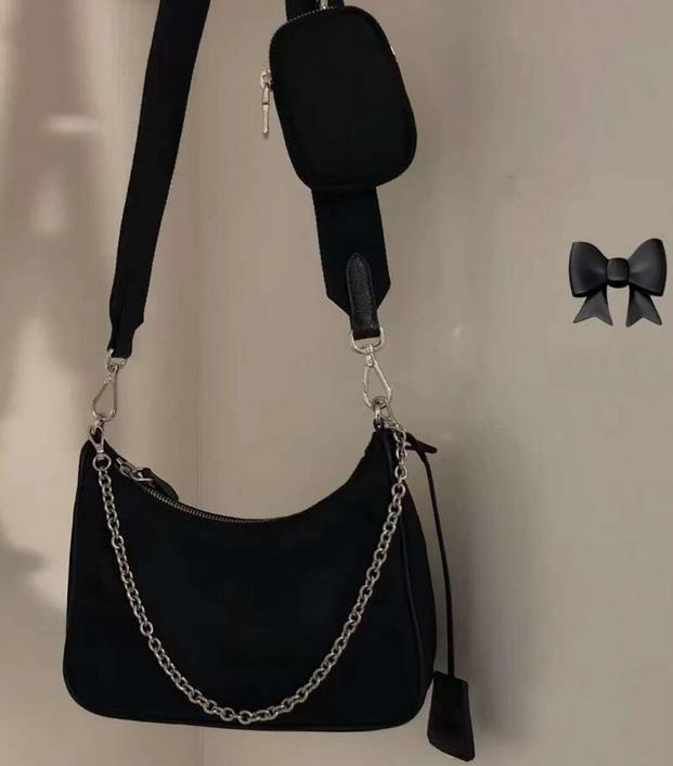 3 피스 총 컬러 숄더 백 고품질 핸드백 패션 좋은 일치 여성 가방 나일론 크로스 바디 새로운 패션 여성 가방 상자