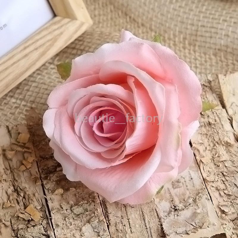 20pcs 10cm 인공 가짜 장미 머리 실크 꽃 벌크 웨딩 꽃 방 홈 테이블 장식