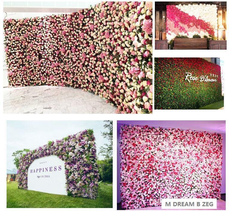 40x60 سنتيمتر مخصصة الألوان الحرير روز زهرة جدار رومانسية الزفاف الديكور خلفية الزهور الاصطناعية حزب ديكور