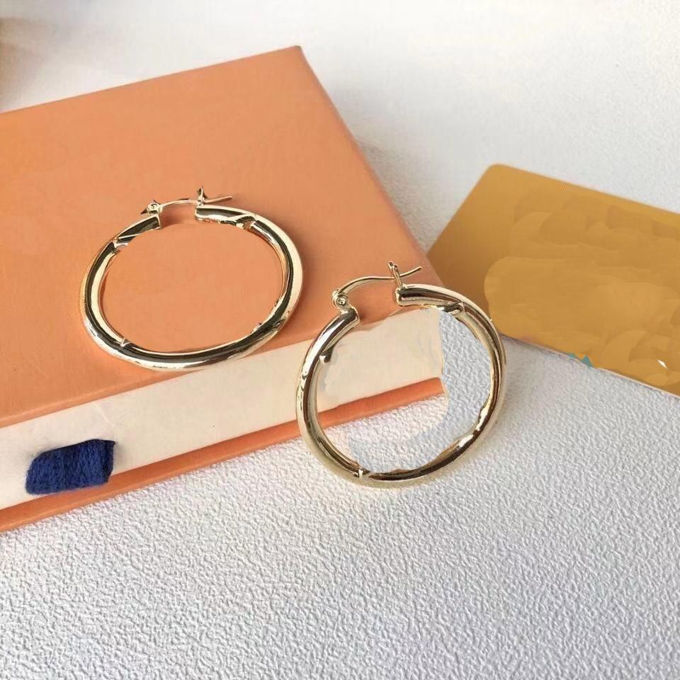 Boucles d'oreilles à cerceau en or de grand diamètre pour femme femme féminine femmes amateurs de mariage bijoux de fiançailles cadeaux