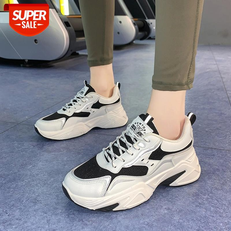 2021 Nouveaux Sneakers Spring Femmes Femmes Fantaisie Papa Papa Papa Epais Fond Rond Toile Rols Loisirs Femme Vulcanisée Casual Chaussures # UC72