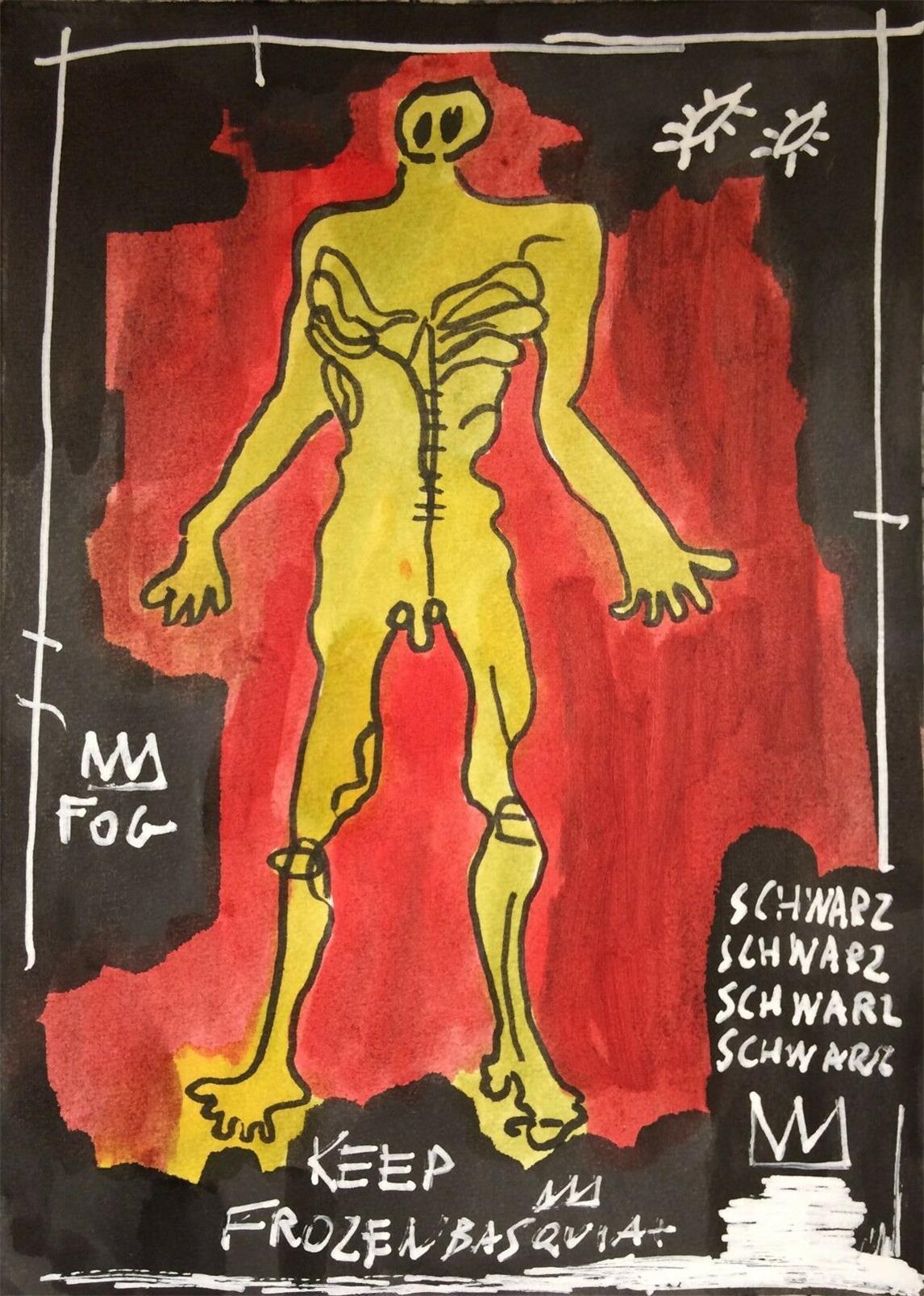 Jean-Michel Basquiat Home Decor Decor à la main HD Imprimer Huile Peinture sur toile Art Art Toile Photos, F2103010