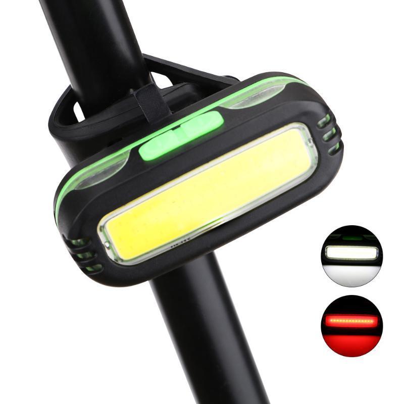 Bisiklet Işıkları Yol Ergonomik Arka Lambamı Bisiklet Güvenliği Açık Bisiklet Lambası Işık Aksesuarları ABS COB Pille çalışır