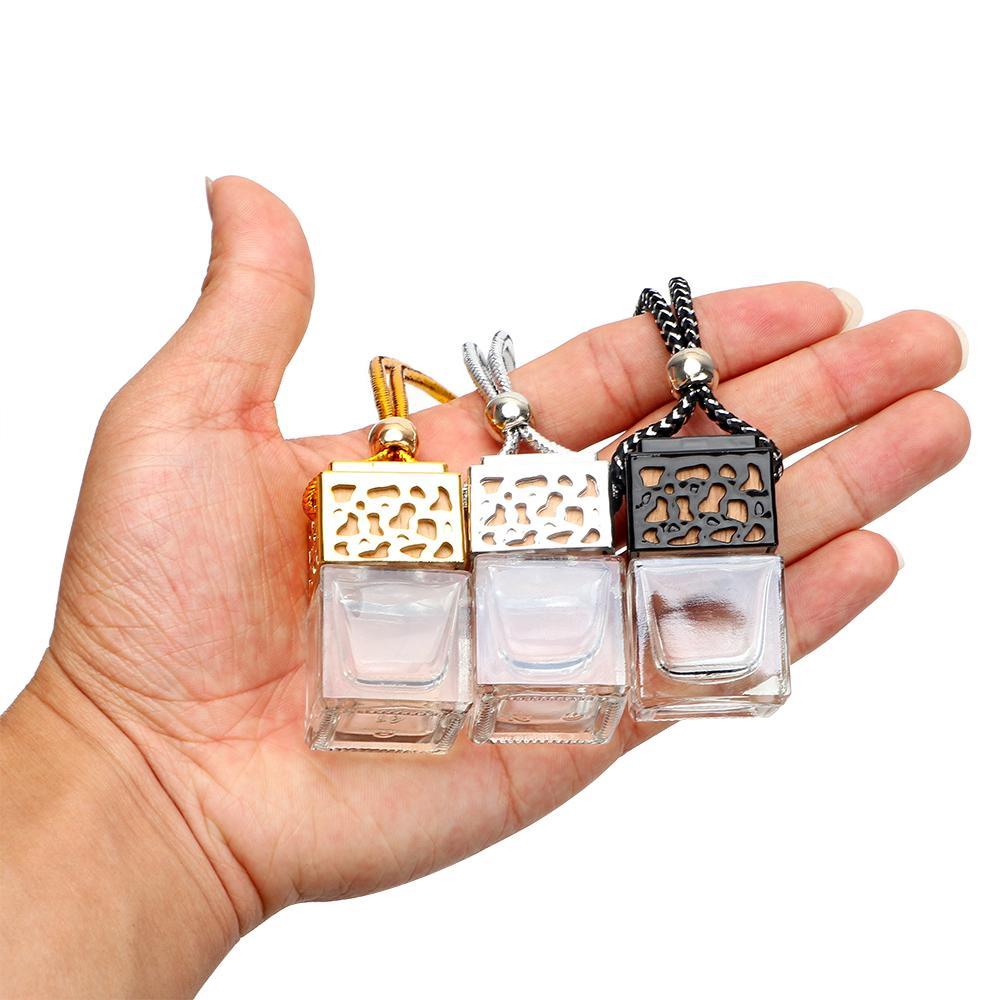 Carro de garrafa de vidro vazio Pendurar perfume Retrovisor espelho ornamento de ar refrogerador para óleos essenciais difusor fragrância carro-styling gwa7822