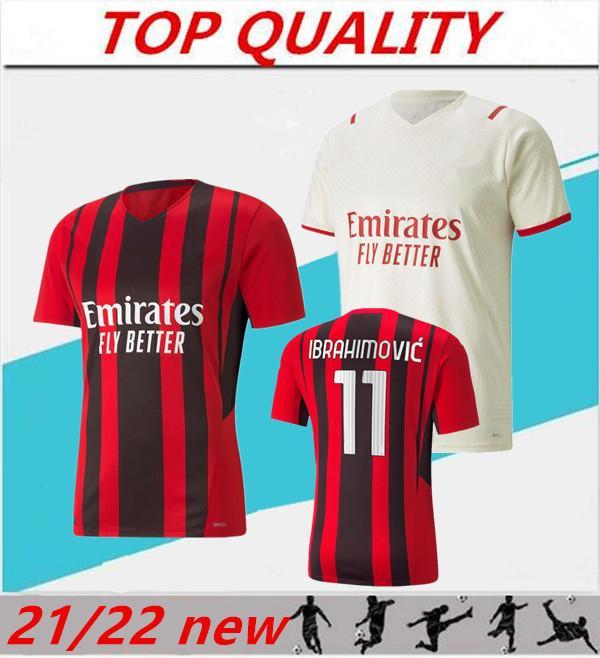 20/21 AC Milan IBRAHIMOVIC maillot de football maillot de foot 2020 2021 PAQUETA REBIC R.LEAO REBIC maillot de football ROMAGNOL maillots de football