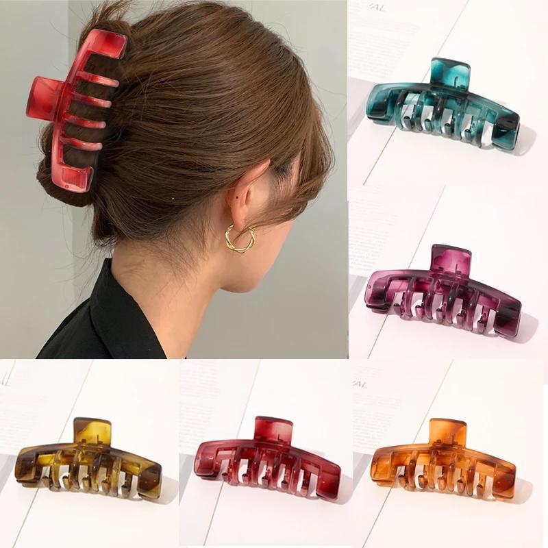Donna Semplicemente capelli artigli coreani in stile coreano Penytail clips ragazze copricapo capelli capelli barrettes accessori per capelli