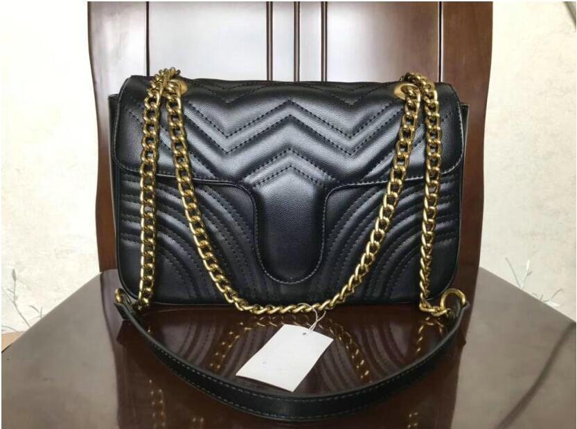 أعلى جودة الجلود الكلاسيكية حقيبة crossbody الذهب سلسلة الذهب الساخن بيع جديد حقائب النساء حقائب الكتف حقائب حمل حقائب رسول eeeyu7