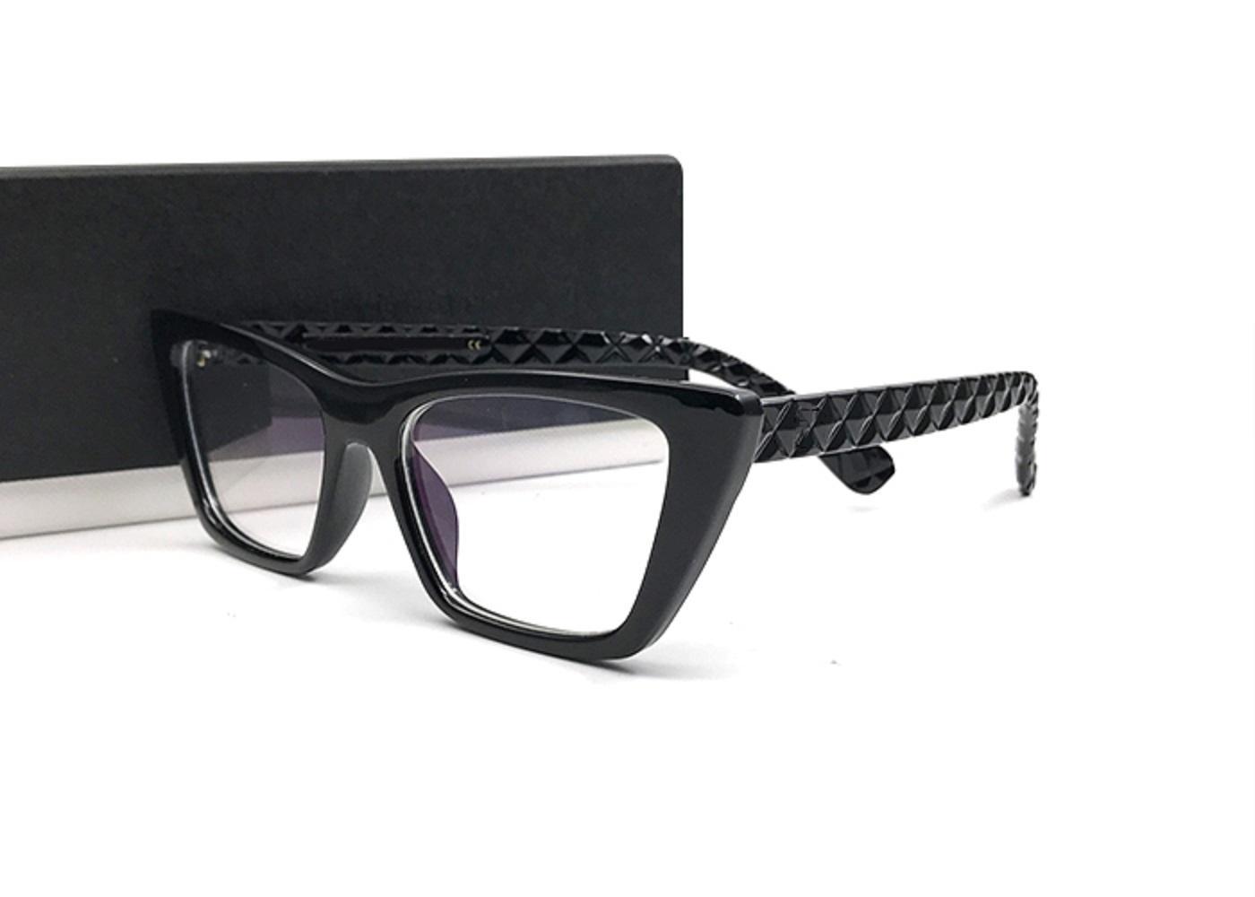 الأزياء القط العين إطار نظارات المرأة عادي مرآة نظارات نظارات الكمبيوتر قصر النظر الأطر البصرية النظارات اللينات الدنيا oculos مع مربع