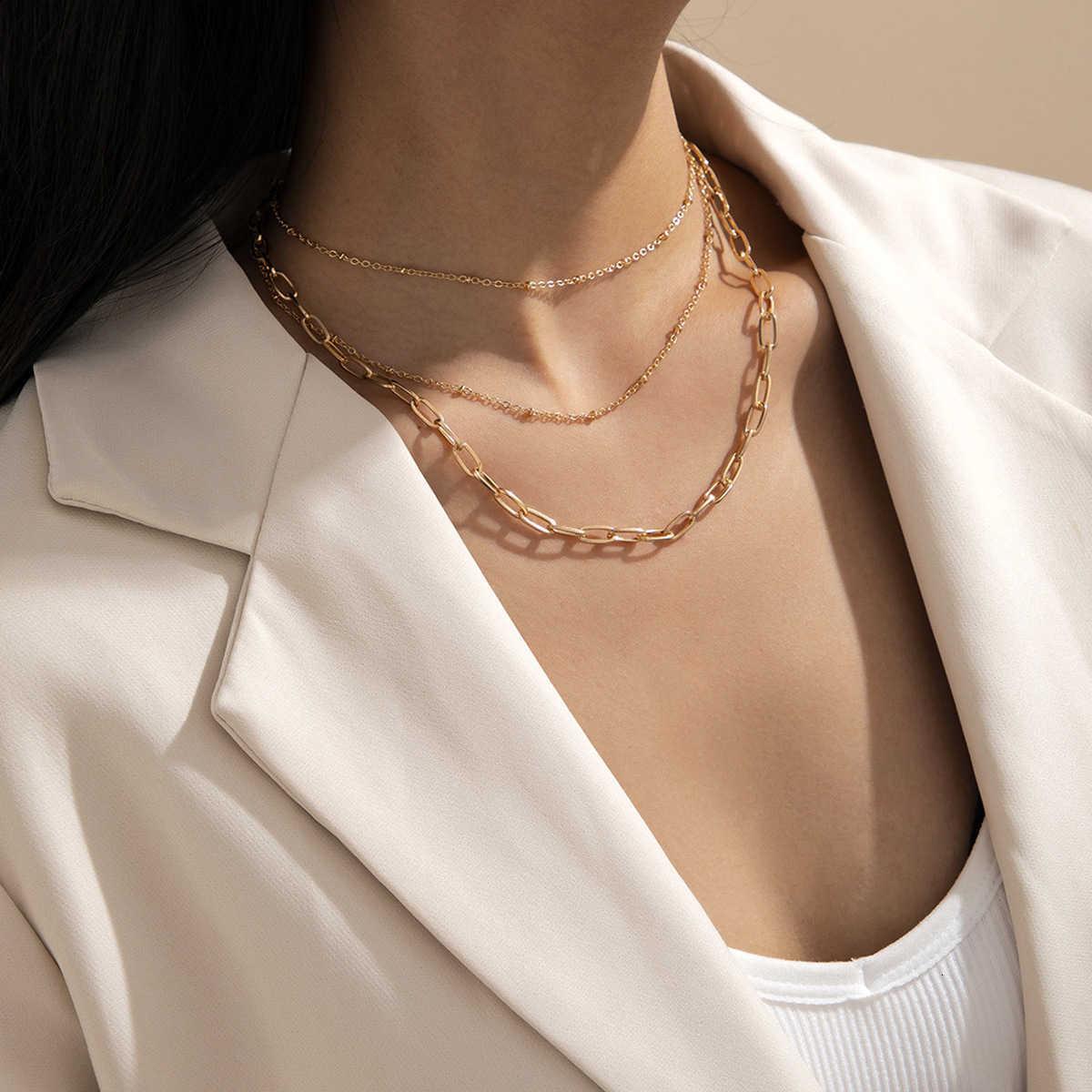 Çok katmanlı püskül kadın moda için basit kare ipek çapraz zincir kolye