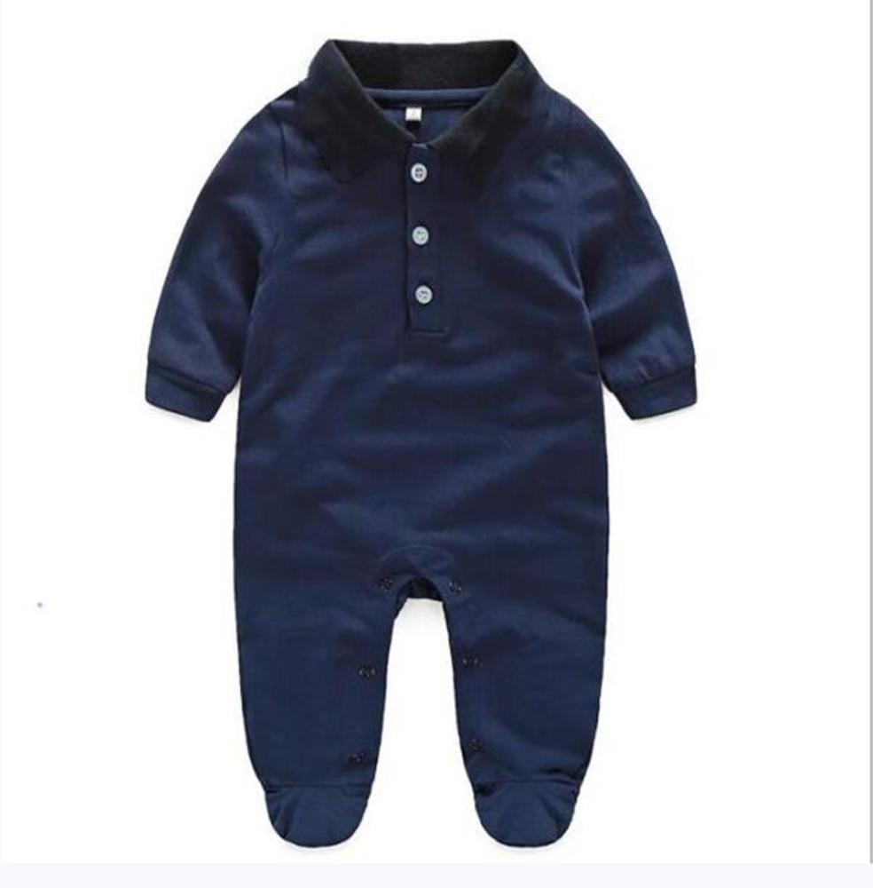 Baby Hot Sell Newborn Clothes Long Sleeve Designer 100% Cotton Baby Rompers Infant Clothing Baby Boys Girls Jumpsuits + Hat